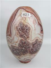 Sale 8431A - Lot 623 - Variegated Marble Vase, turned & polished