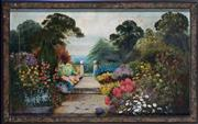 Sale 8620A - Lot 81 - Artist Unknown, 20th Century - Garden Path Study 58 x 97cm