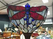 Sale 8562 - Lot 1046 - Leadlight Up Lamp