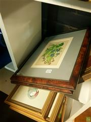Sale 8640 - Lot 2078 - Collection of (5) Framed Prints including Antique Engravings, various sizes