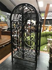 Sale 8805 - Lot 1039 - Metal Cage Form Wine Rack