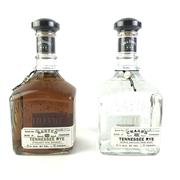 Sale 8830W - Lot 50 - Jack Daniels Rested/Unaged Rye Set Tennessee Whiskey - 2 bottle set, Rested Rye, batch No.2, bottle no. 465; Unaged Rye, batch no....