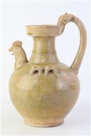 Sale 8815C - Lot 12 - Brown Glazed Rooster Vase (H 30cm)