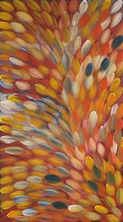 Sale 8916 - Lot 532 - Gloria Petyarre (c1945 - ) - Bush Medicine Leaves 170 x 94 cm (stretched and ready to hang)