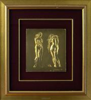 Sale 8485A - Lot 5001 - Pietro Annigoni (1910 - 1988) - Le Bagnanti 25 x 25cm