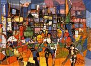 Sale 8575 - Lot 507 - Reinis Zusters (1919 - 1999) - Urban Scene 44 x 60cm