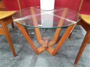 Sale 8676 - Lot 1093 - Round Glass Top Two Tier Side Table