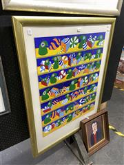 Sale 8878 - Lot 2068 - Artist Unknown - Toys, acrylic on canvas board, 104 x 81 cm, signed and dated lower right