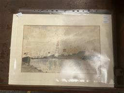 Sale 9101 - Lot 2045 - John Bloomfield Untitled, 1973 watercolour (AF) 31 x 44cm (unframed), signed -