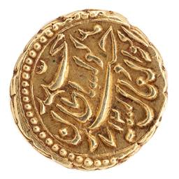 Sale 9130E - Lot 8 - A 15 carat gold Ancient Indian 1 Mohur coin, weight 3.33g