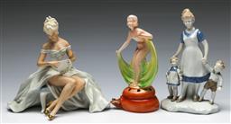 Sale 9156 - Lot 42 - A collection of continental figures inc Schaubach kunst (Tallest H 21cm)