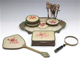 Sale 9173 - Lot 92 - A collection of Victorian dressing table wares