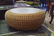 Sale 8390 - Lot 1304 - Large Wicker Circular Occasional Table