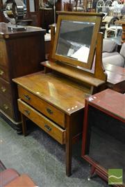 Sale 8507 - Lot 1038 - Oak Mirrored Back Dresser
