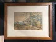 Sale 8836 - Lot 2035 - Artist Unknown - Country Scene, 1886, watercolour, frame size - 62 x 80cm, signed lower left