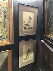 Sale 8861 - Lot 2012 - Joseph Simpson (2 works) - Self Portrait ; Man with Pipe 30 x 21cm, each