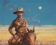 Sale 8901A - Lot 5082 - Tom McAulay (1946 - ) - The Cowboy 19 x 23.5 cm