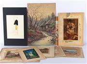 Sale 8994H - Lot 96 - Various European watercolours -