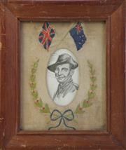 Sale 8994W - Lot 618 - A Framed Early Australian WWI Tapestry (31cm x 26cm)