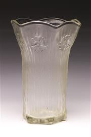 Sale 9078 - Lot 117 - A Good MCM Italian Textured Glass Vase, h 31.5cm
