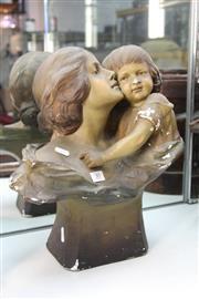 Sale 8322 - Lot 30 - Art Deco Plaster Figure Group
