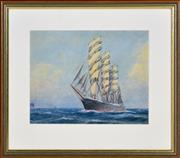 Sale 8382 - Lot 586 - Frederick Elliot (1864 - 1949) - Pamir 23.5 x 29cm