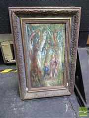Sale 8544 - Lot 2015 - Artist Unknown (early C20th) - Walking Through the Bush 43 x 23.5cm