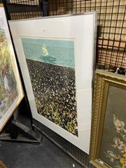 Sale 8891 - Lot 2053 - Katie Clemson - Weve Done It! 1983 mixed media screenprint, ed. 7/20, 92 x 70cm, signed -