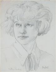 Sale 8901A - Lot 5074 - William Bustard (1894 - 1973) - Sybil 33.5 x 24 cm