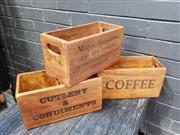 Sale 8962 - Lot 1081 - Collection of 3 Cafe Boxes (H:15cm)
