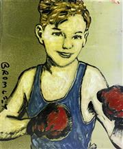 Sale 8984A - Lot 5019 - David Bromley (1960 - ) - Young Boxer 45 x 38 cm (stretched and ready to hang)
