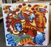 Sale 9028 - Lot 2073 - Artist Unknown Magic Visionsacrylic  100 x 100cm