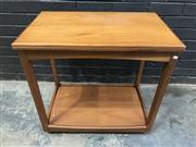 Sale 9039 - Lot 1003 - English Legate Teak Fold Over Tea Trolley (h:68 x w:71 x d:45cm)