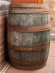 Sale 9070H - Lot 2 - A coopered Bourbon Whiskey Barrell, Height 89cm x Diameter 54cm