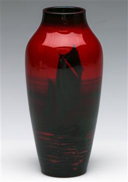 Sale 9173 - Lot 18 - A Royal Doulton flambe vase (H 17cm)