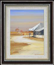 Sale 8316 - Lot 504 - Colin Parker (1941 - ) - The Pub Booligal, Western NSW 39.5 x 26cm