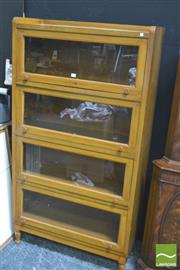 Sale 8418 - Lot 1016 - Maple Glass Front 4 Tier Legal Stacking Bookcase