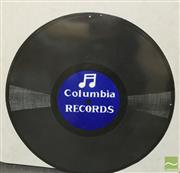 Sale 8435 - Lot 1020 - Enamel Columbia Records Sign 61.5cm Dia