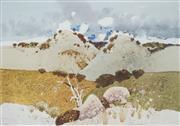 Sale 8510 - Lot 502 - Frank McNamara (1916 - 1995) - Twin Hills 46.5 x 66.5cm