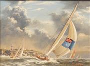 Sale 8633A - Lot 5009 - Brian Baigent (1929 - ) - The Race, 1981 29 x 39cm