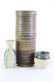 Sale 8963 - Lot 51 - Studio Potted Vases (3) Tallest 27cm)