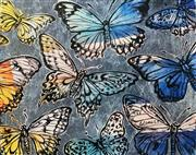 Sale 8984A - Lot 5045 - David Bromley (1960 - ) - Butterflies 80 x 100 cm (sheet size: 80 x 100 cm)