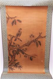 Sale 9018O - Lot 875 - Scroll Depicting a Nature Scene with Another Depicting a Lady at Rest