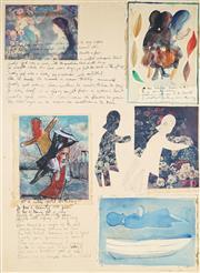 Sale 9067 - Lot 567 - Charles Blackman (1928 - 2018) - Schoolgirl Suite, 1964 74 x 53.5 cm (frame: 104 x 83 x 4 cm)