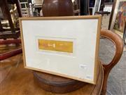 Sale 9082 - Lot 2077 - Christina Cordero (1938 - ) Passing Through, 1988 (Ib) aquatint ed. S/P2. 26 x 37cm (frame) signed