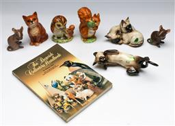 Sale 9153 - Lot 45 - A collection of animal figures incl Beswick (7) (tallest 10cm), (incl Beswick book)