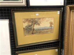 Sale 9152 - Lot 2025 - Henry Carter Evening at Emu Plains watercolour 37 x 49cm (frame) signed lower left