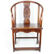 Sale 8413 - Lot 90 - Huali Wood Horseshoe Chair