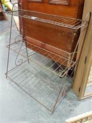 Sale 8462 - Lot 1094 - Tiered Metal Plant Stand