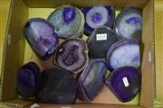 Sale 8542 - Lot 1048 - Box Purple Polished Agates
